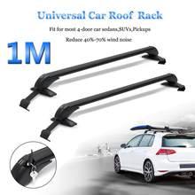 Luggage-Carrier Roof-Racks Rubber-Gasket Cross-Bars 2pcs 100cm with for 4DR Sedans Suvs