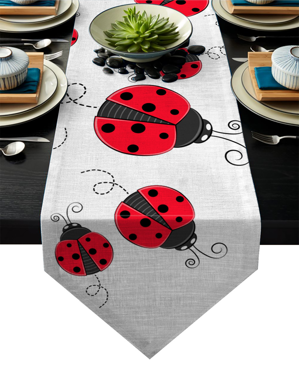 Polka Dots Cat Birthday Personalized Party Table Placemat Decoration