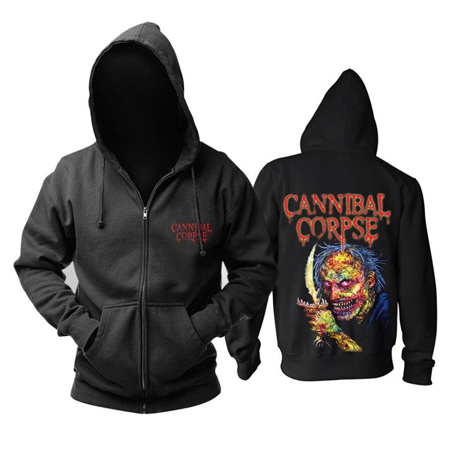 17 designs CANNIBAL CORPSE Rock Horrible Hoodies jacket zipper fleece zipper Sweatshirt heavy metal sudadera demon killer-in Hoodies & Sweatshirts from Men's Clothing    1