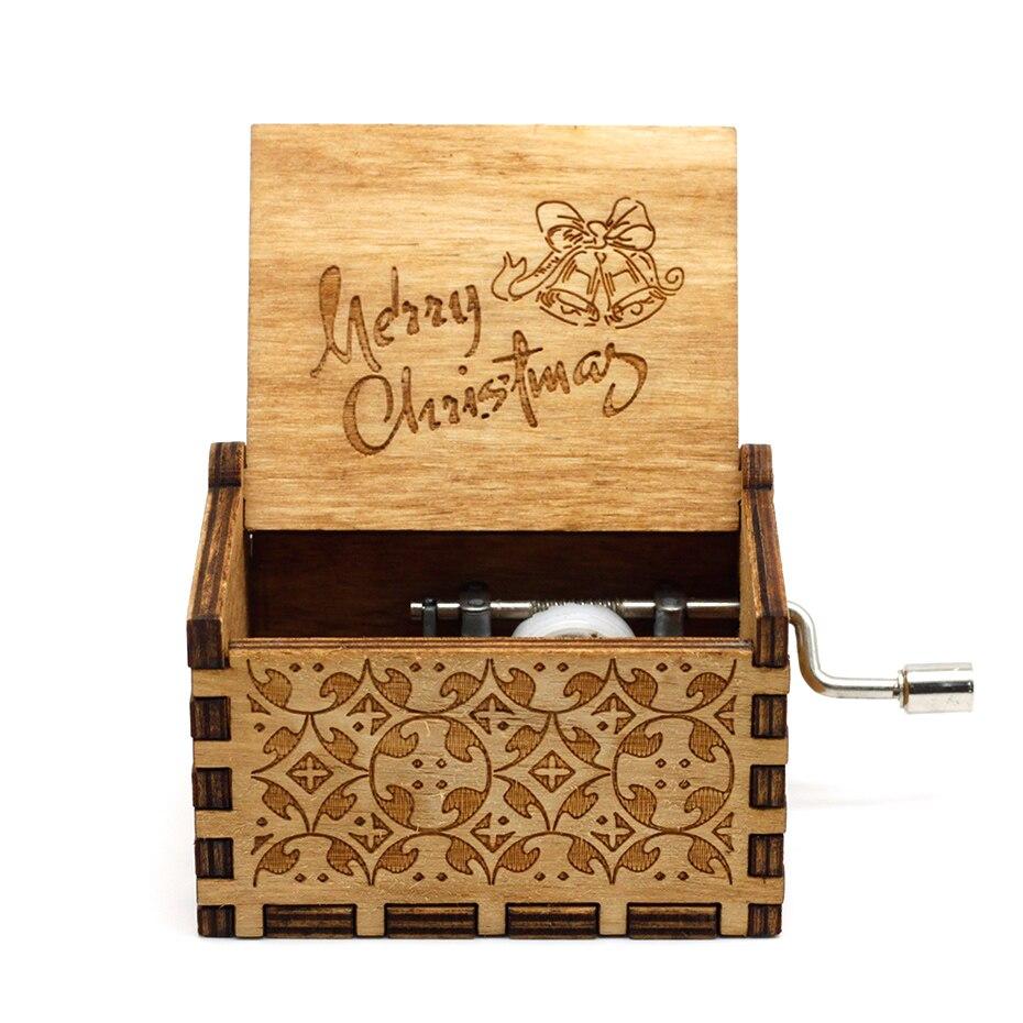 Горячая королева Рука коленчатого дерева Музыкальная шкатулка с днем рождения Звездные войны игра трона Крестный отец Рождество подарок на год - Цвет: 02