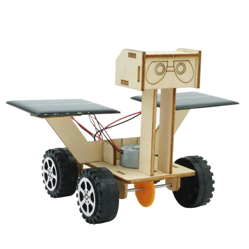 montagem de energia solar lua rover robo modelo cientifico experimento criancas brinquedo diy