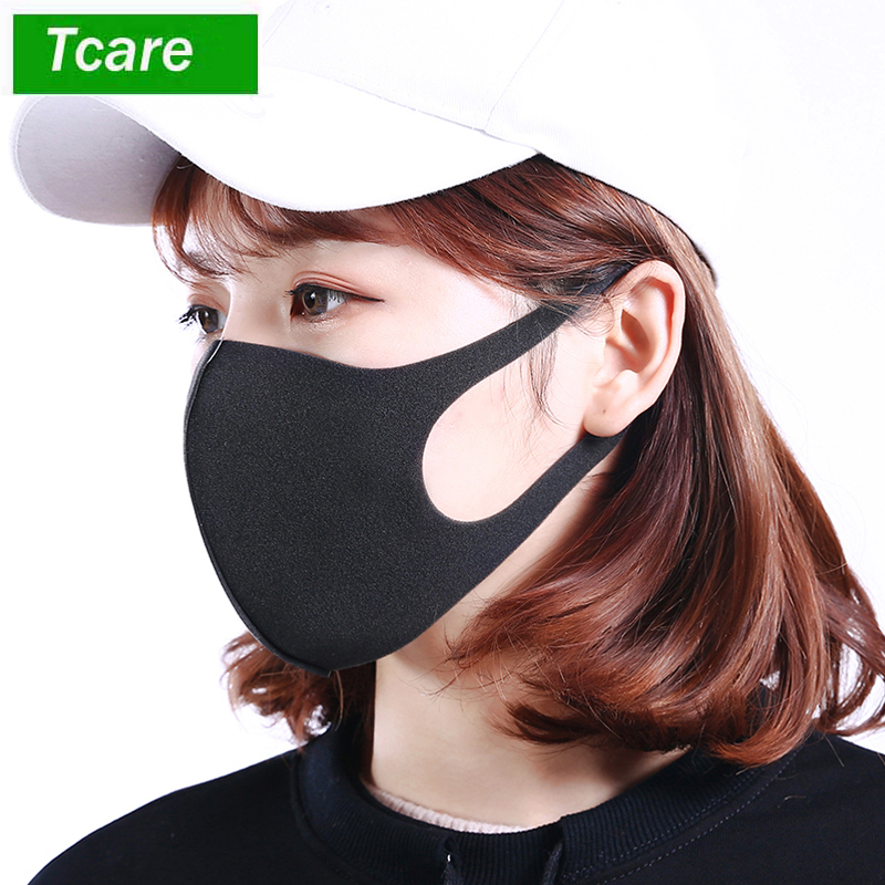Tcare 3Pcs/Lot Anti Dust Face Mouth Cover PM2.5 Mask Respirator - Dustproof Anti-bacterial Washable - Reusable Comfy Masks