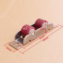 Slot-Wheel Pulley Sliding-Rollers Glass-Door Door-Window Nylon 4pcs/Lot Stainless-Steel