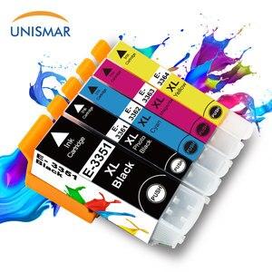 Unismar 5 sztuk 33XL pojemnik z tuszem używać do Epson XP530 XP630 XP635 XP830 XP635 XP540 XP640 XP645 TXP900 XP7100 T3351 T3361 drukarki