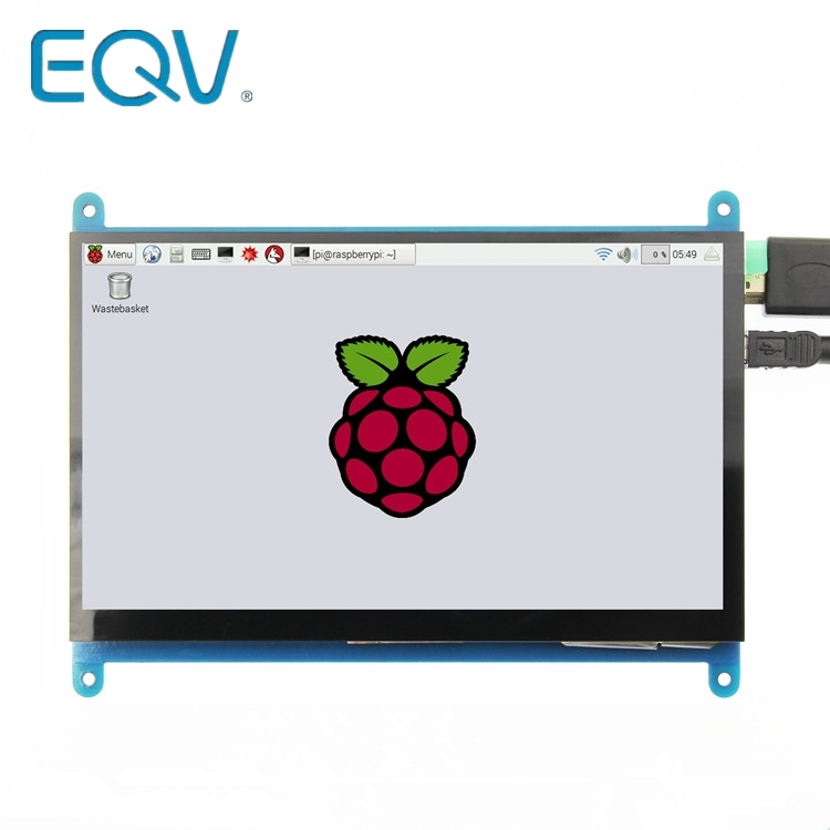 <font><b>7</b></font> <font><b>inch</b></font> 800*480 IPS Capacitive Touch Panel TFT <font><b>LCD</b></font> Module Screen Display for Raspberry Pi 3 B+ image