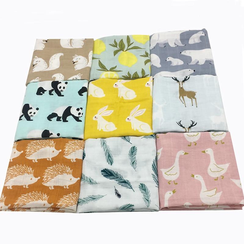Újszülött puha organikus pamut baba takaró muszlin pólya - Ágynemű - Fénykép 1