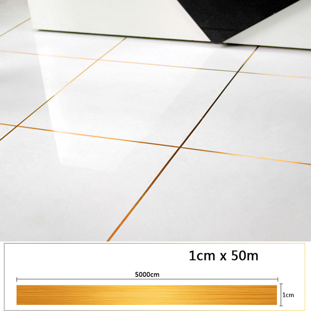 Mildewproof DIY PVC Decals Home Decor Self Adhesive Floor Seam Sticker Wall Edges Tile Sealing Tape Rims Waterproof Foil Strip image
