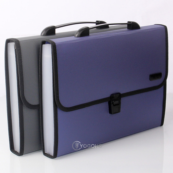 M&G 1pcs A4 File Folder Document Bags Expanding Wallet Business Series Folder Bag Office School Supplies 2 Colors xiaobaomao a4 commercial business document bag tote file folder filing meeting bags pocket office bags pocket large capacity