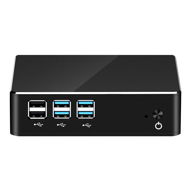 Mini PC Intel Pentium 4405U HTPC Windows Linux 4*USB3.0 2*USB2.0 HDMI VGA 300M WiFi Gigabit Ethernet Micro Computer