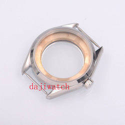 Parnis41mm Zilveren Stalen Horloge Fit Eta 2836  Mingzhu/Dg 2813/3804  Miyota 8205/8215