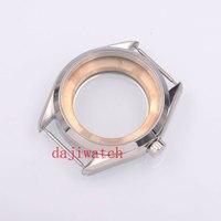Parnis41mm prata aço relógio caso ajuste eta 2836  mingzhu/dg 2813/3804  miyota 8205/8215