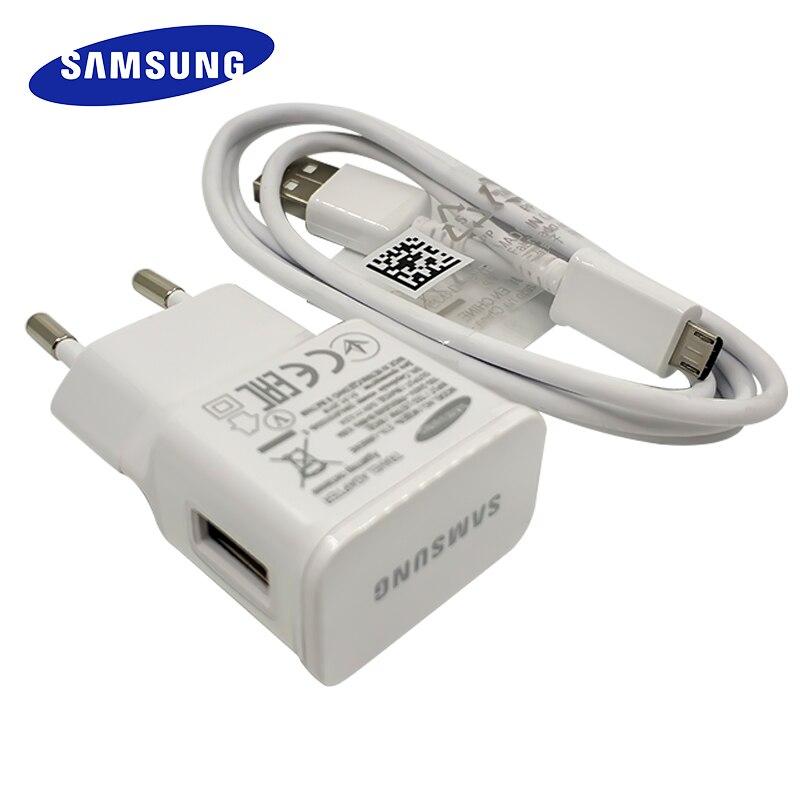 5V2A Carregador para Samsung Adapter Plug UE Charger Micro Cabo USB para Galaxy S6 S7 borda J1 J3 J5 J7 A3 A5 A7 A8 2016 Nota 5 4