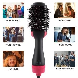 Image 5 - Выпрямитель для волос Вращающийся 3 в 1 Многофункциональный ролик вращающийся тип r Расческа для горячего воздуха щетка для укладки сухой салонный дом