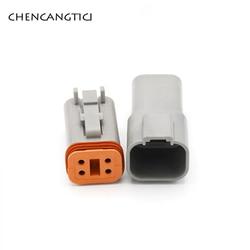 1 Set DT 4 Pin forma Deutsch automóvil eléctrico a prueba de agua conector de cable macho hembra macho 22-16AWG DT06-4S DT04-4P