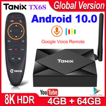Tanix TV Box TX6S Dispositivo de TV inteligente, Android 10, 4GB de RAM, 32GB 64GB, Allwinner H616, Quad Core, Android 10,0, H.265, reproductor multimedia 4K, 2GB, 8GB
