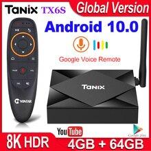 Tanix TX6Sสมาร์ททีวีกล่องAndroid 10 4GB RAM 32GB 64GB Allwinner H616 Quad Core Android 10.0กล่องทีวีH.265 4K Media Player 2GB 8GB
