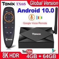 Tanix-Dispositivo de TV inteligente TX6S, decodificador con Android 10, 4GB de RAM, 32GB, 64GB, Allwinner H616, cuatro núcleos, H.265, reproductor multimedia 4K, 2GB, 8GB