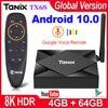 Tanix TX6S Smart TV Box Android 10 RAM 4GB 32GB 64GB Allwinner H616 Quad Core Android 10.0 tivi Box H.265 4K Truyền Thông Người Chơi 2GB 8GB