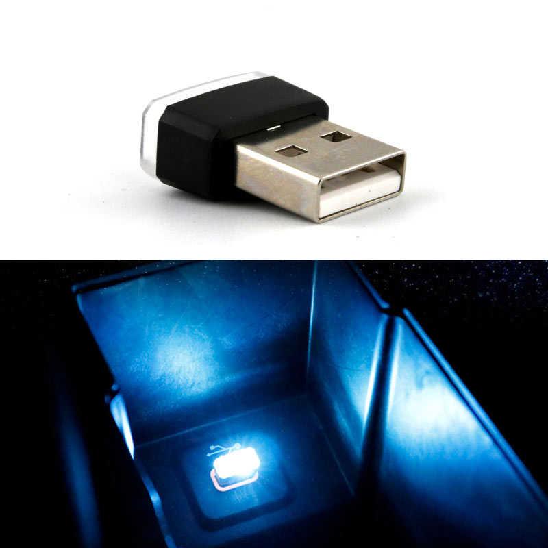 車のスタイリング USB 雰囲気 Led ライトカーアクセサリールノーメガーヌ用 2 3 ルノーダスターローガン Captur クリオクルーズ Aveo captiva