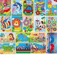 Ручная работа, детская головоломка, сделай сам, пена и кристалл, наклейка s Art EVA, мультяшное животное, кристалл, 3D наклейка, креативные Развивающие игрушки для детей