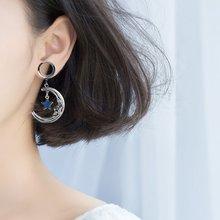 1 par túneis plugues de orelha dilatacions oreja expansores orelha piercing lua pendientes calibres de ouvido de aço inoxidável jóias do corpo