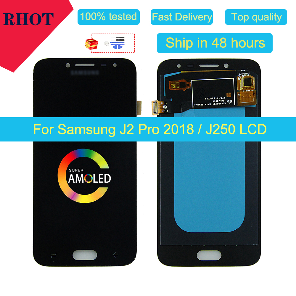 100% super-tested AMOLED liquid crystal display for <font><b>Samsung</b></font> <font><b>Galaxy</b></font> <font><b>J2</b></font> Pro <font><b>2018</b></font> J250 <font><b>J250F</b></font> <font><b>SM</b></font>-<font><b>J250F</b></font>/DS touch screen LCD assembly image