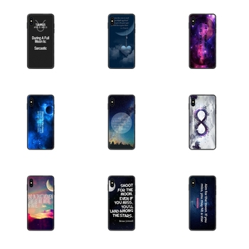 Black Soft TPU Accessories Case Sky Moon Infinity Quote For Galaxy A70 A71 A70E A5 A6 A7 A8 A10 A10S A20 A20S A20E A21S A30S image
