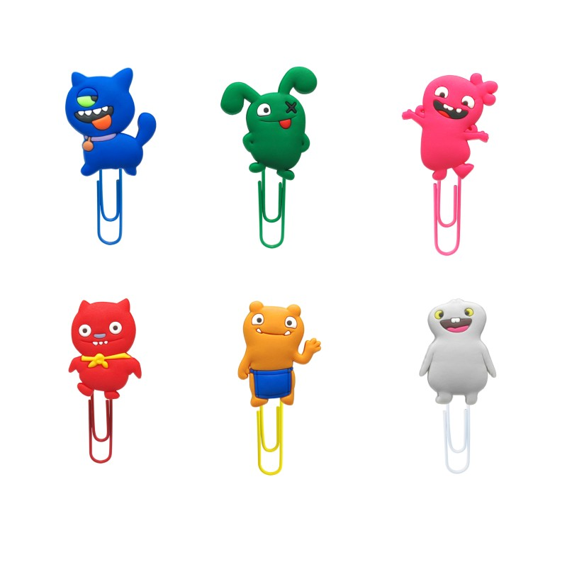 1pcs Cute Dolls Bookmarks For Book Cartoon Figure Book Mark Paper Clips Page Holder For School Teacher Office Supply Kids Gift