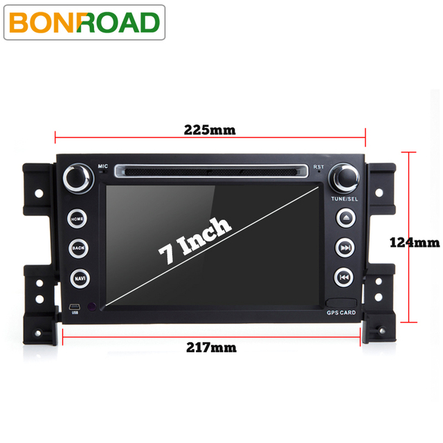 "Bonroad 7""2Din Android 10.0 Car DVD For suzuki grand vitara 2007-2015 Stereo gps navigation car radio USB audio video player"