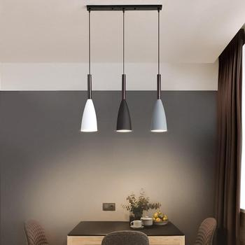 Modern 3 Pendant Lighting Nordic Minimalist Pendant Lights Over Dining Table kitchen island hanging lamps dining room lights E27 fashion personality nordic modern pendant lights minimalist dining room single industrial wind bar pendant lamps za fg710