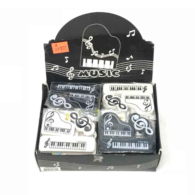 3 Stks/set Musical Piano Merkt Rubber Potlood Gum School Student Koreaanse Briefpapier Correctie Supplies Voor Kinderen Geschenken Dxac