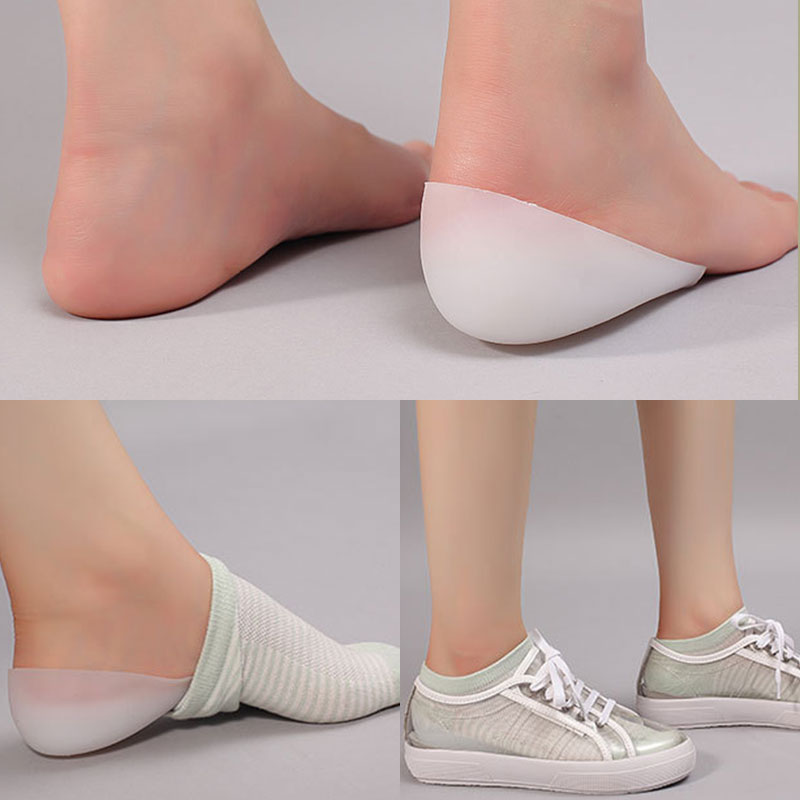 Unisex Silicone Insoles Orthopedic Insoles Invisible Height Increase Half Pad Anti-Slippery Heel Pads Silicone Gel Sole Insoles