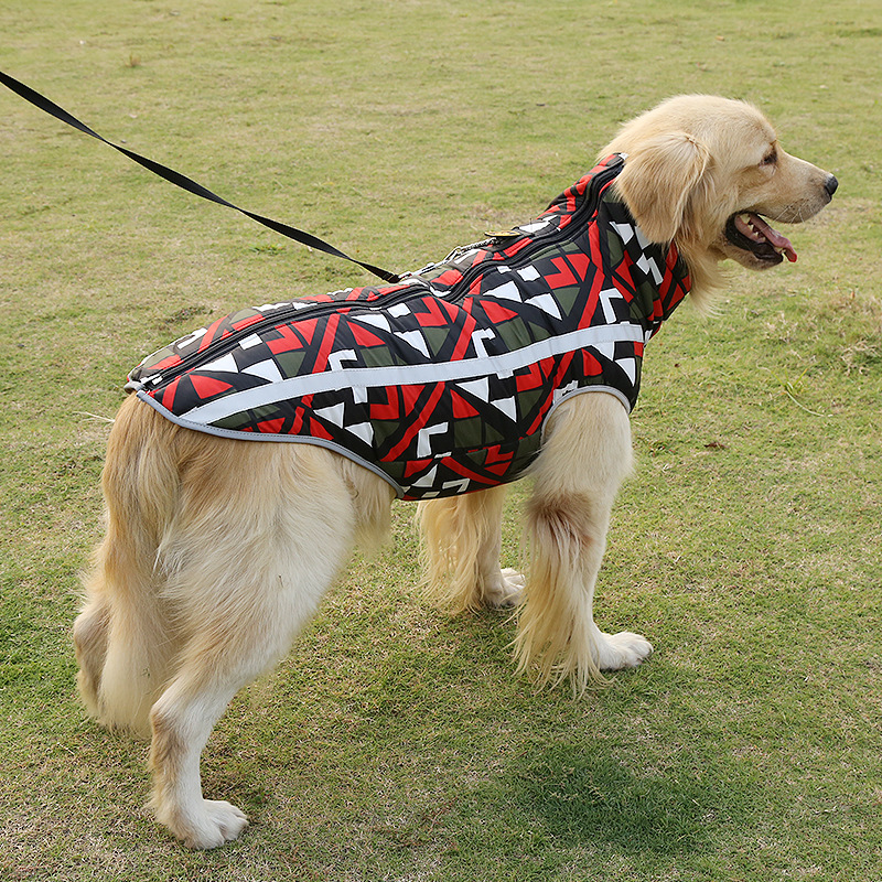Warm and Waterproof Dog Jacket for Large Dogs with Strong Teeth Zipper Design 8