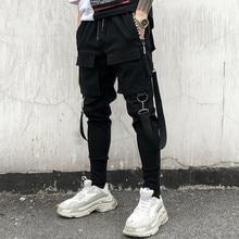 Newest Men's Fashion Personality Slim Elasticity Hip Hop Pants Multi Pocket Haran Joggers Tootsies Singer Costumes
