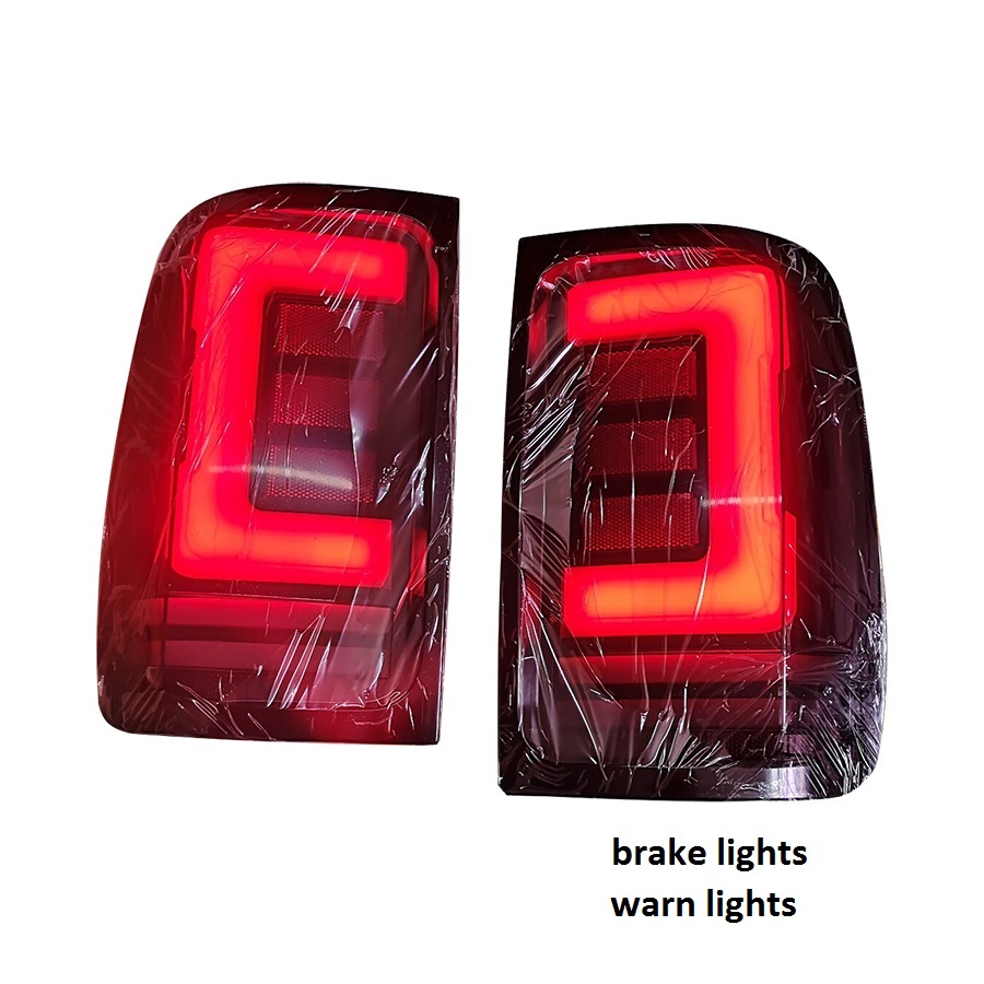 Image 2 - exterior auto lamps rear led lights taillamp with turn signal features fit for vw amarok v6 rear tail lights pickup car 2008 19Car Light Assembly   -