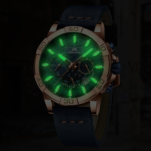 Image 3 - 2019 MEGALITH Top Brand Watches Mens Sport Chronograph Waterproof Casual Clocks For Mans Fashion Wrist Watches Men Montre Homme