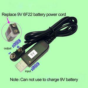 Image 4 - 9V Battery Eliminator USB Cavo 5V Boost per 9V Convertitore di Tensione Step up Volt Trasformatore DC regolatore di potenza Linea Per Il Tester