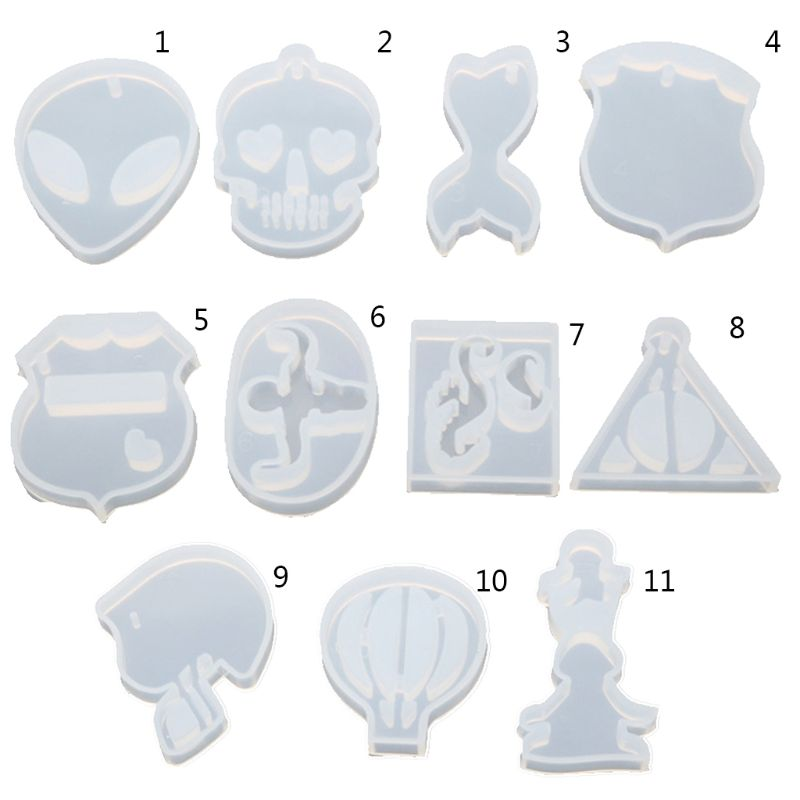 Resin Pendant Crystal Epoxy Silicone Mold DIY Resin High Mirror Hot Air Balloon Triangle Shape Molds Charm Making Jewelry Tools