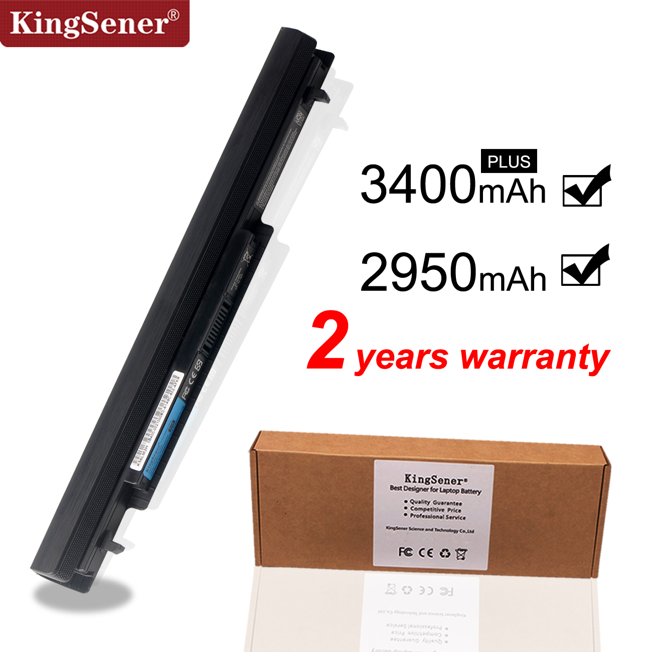 KingSener New A41-K56 Laptop Battery For ASUS K46 K46C K46CA K46CM K56 K56CA K56CM S46C S56C R505CA A32-K56 A42-K56 15V 2950mAh