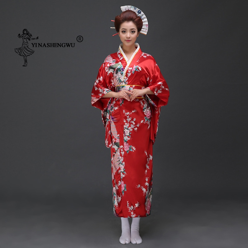 Japanese Kimono Traditional Print Yukata Women Kimono Dress Japan National Style Coat Sexy Asian Clothing Kimono Cosplay Costume