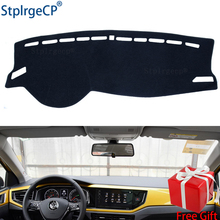 for VW POLO MK6 2018 2019 2020  dashboard mat Protective pad Shade Cushion Pad interior sticker accessories