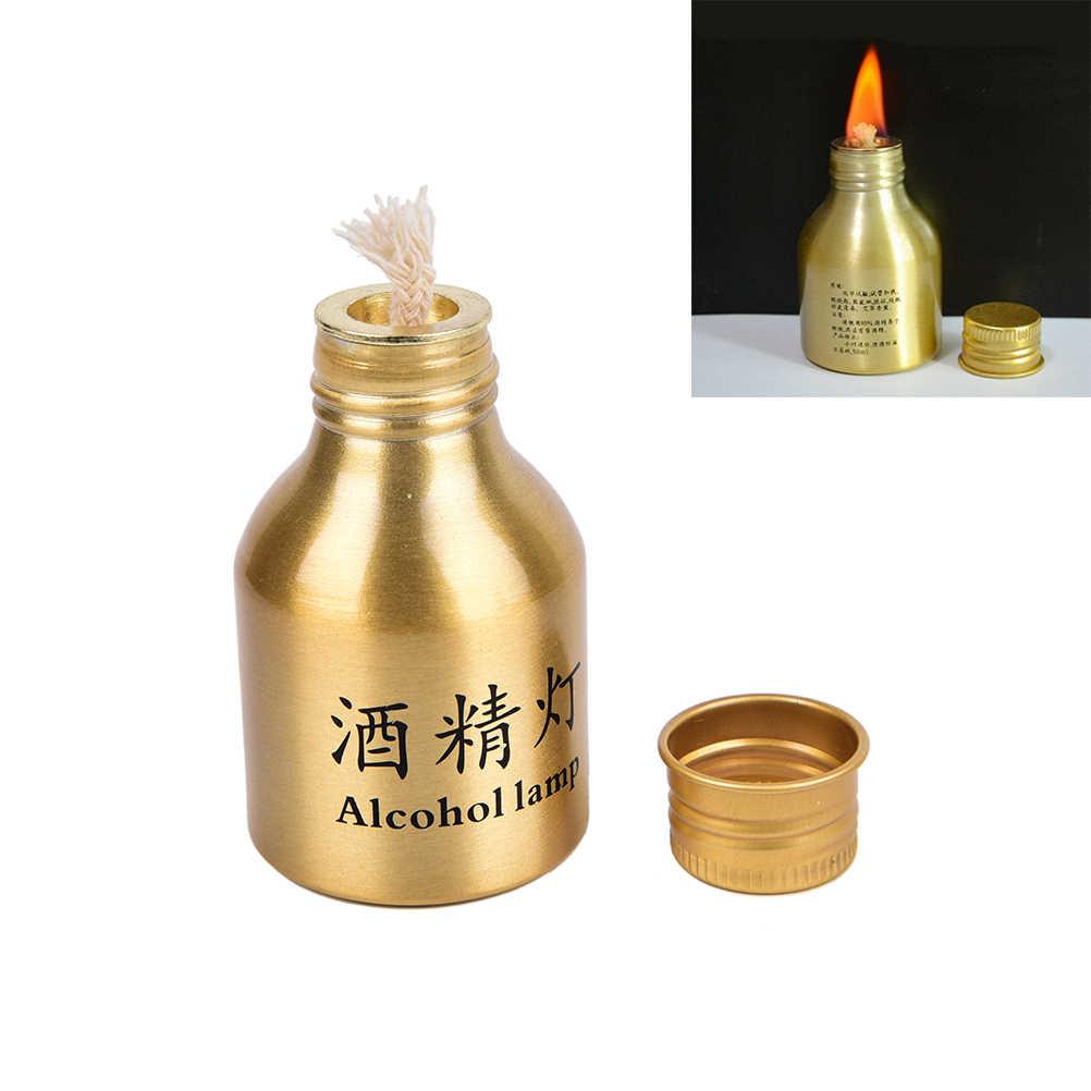 5 estilos de Metal portátil Mini lámpara de Alcohol calefacción líquido fogones de Exteriores supervivencia Camping de senderismo de viajes (sin Alcohol)