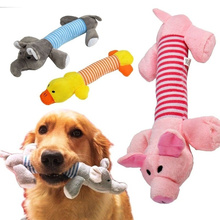 Toy Puppy Pig-Duck Plush Squeaky-Toys Dog-Supplies Pets Chew Elephant-Shape Funny Bite