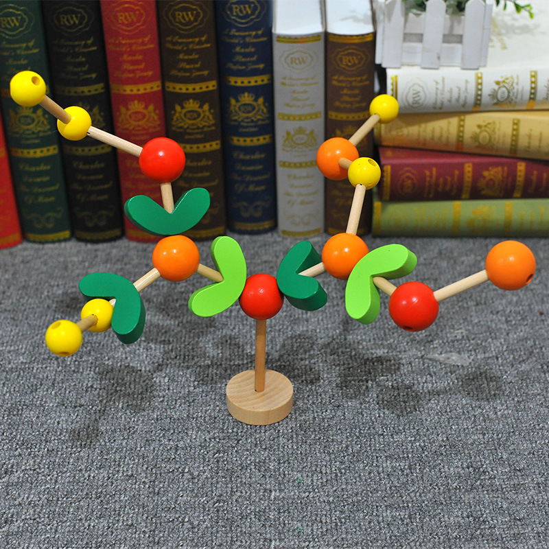 Wooden Fun Fight Inserted Small Fruit Tree CHILDREN'S Assembling Assembly Children Early Childhood Educational Hand-Eye Coordina