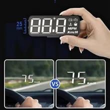 Speedometer Car Hud Head-Up-Display Speed-Projector Water-Temperature-Euobd OBD2 Windshield