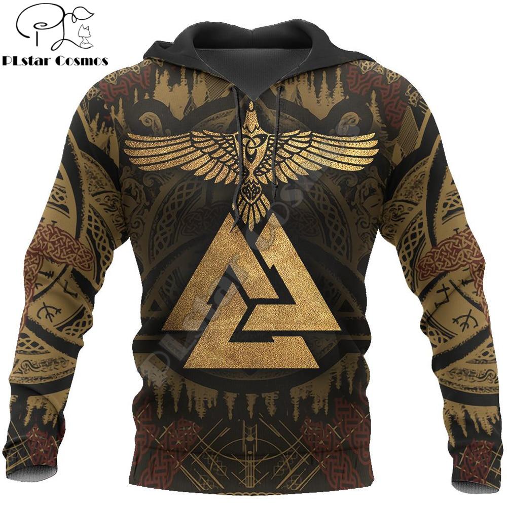 Viking Huginn Raven Tattoo All-Over Print 3D Hoodie and Sweatshirt Harajuku Fashion hoodies Unisex Casual Jacket pullover DW0028