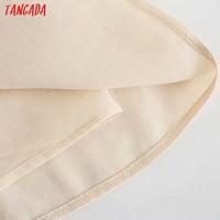 Tangada Women's Summer Dress Fashion Solid Satin Dresses with Slash Bow Female Casual Beach Dress 3H287 5