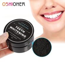 OSHIONER, профессиональная гигиена полости рта, отбеливание зубов, уход за полостью рта, угольный порошок, натуральный активированный уголь, отбеливающий порошок для зубов