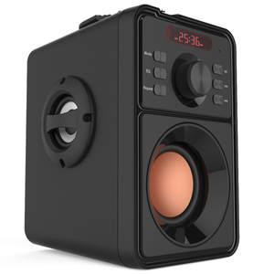 Big Subwoofer Speakers Clock Column Computer Music-Center Boom-Box Super-Bass Portable
