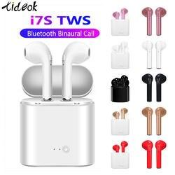 I7s TWS Bluetooth наушники стерео вкладыши Bluetooth гарнитура с зарядкой Pod беспроводные гарнитуры для всех смартфонов